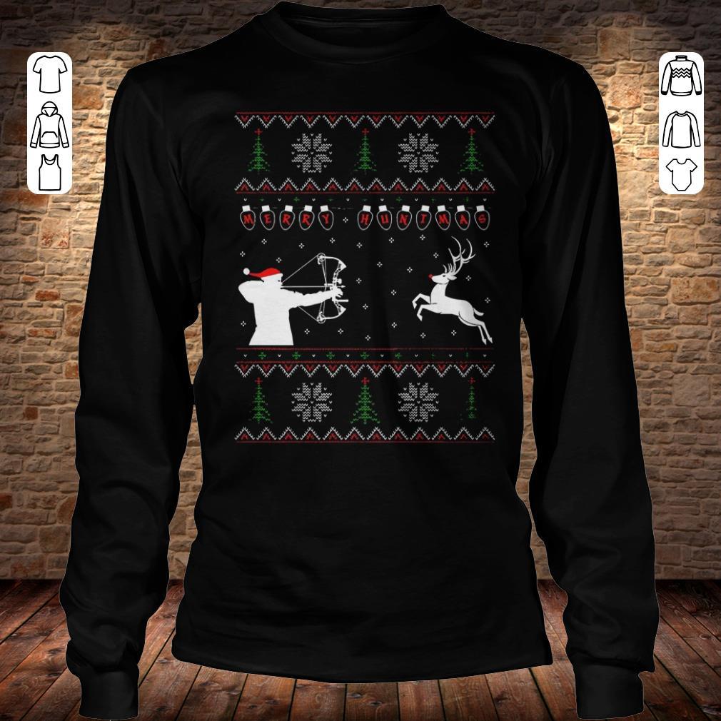 Merry huntmas sweater Longsleeve Tee Unisex