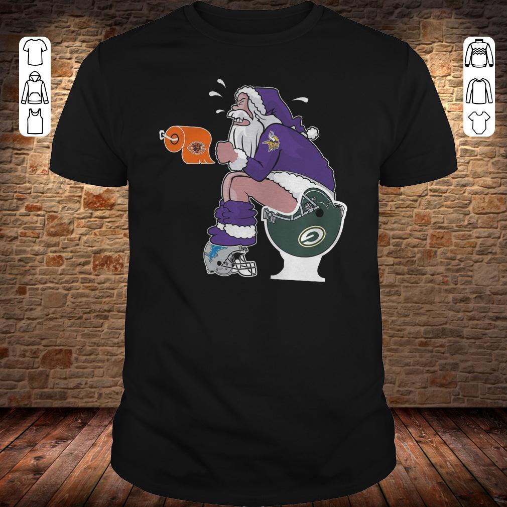 Minnesota Vikings Santa Green Bay Packers Toilet shirt 8ea50a152