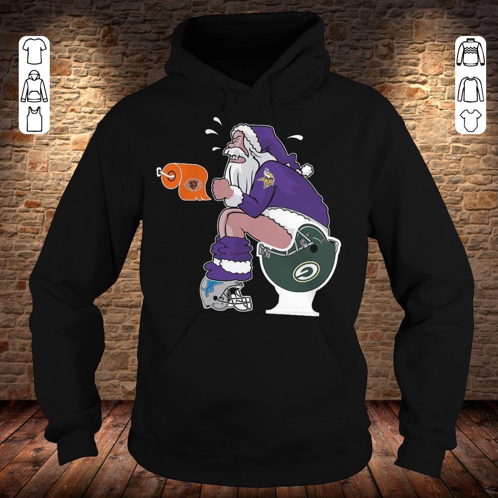 Minnesota Vikings Santa Green Bay Packers Toilet shirt Hoodie 71b41ede0