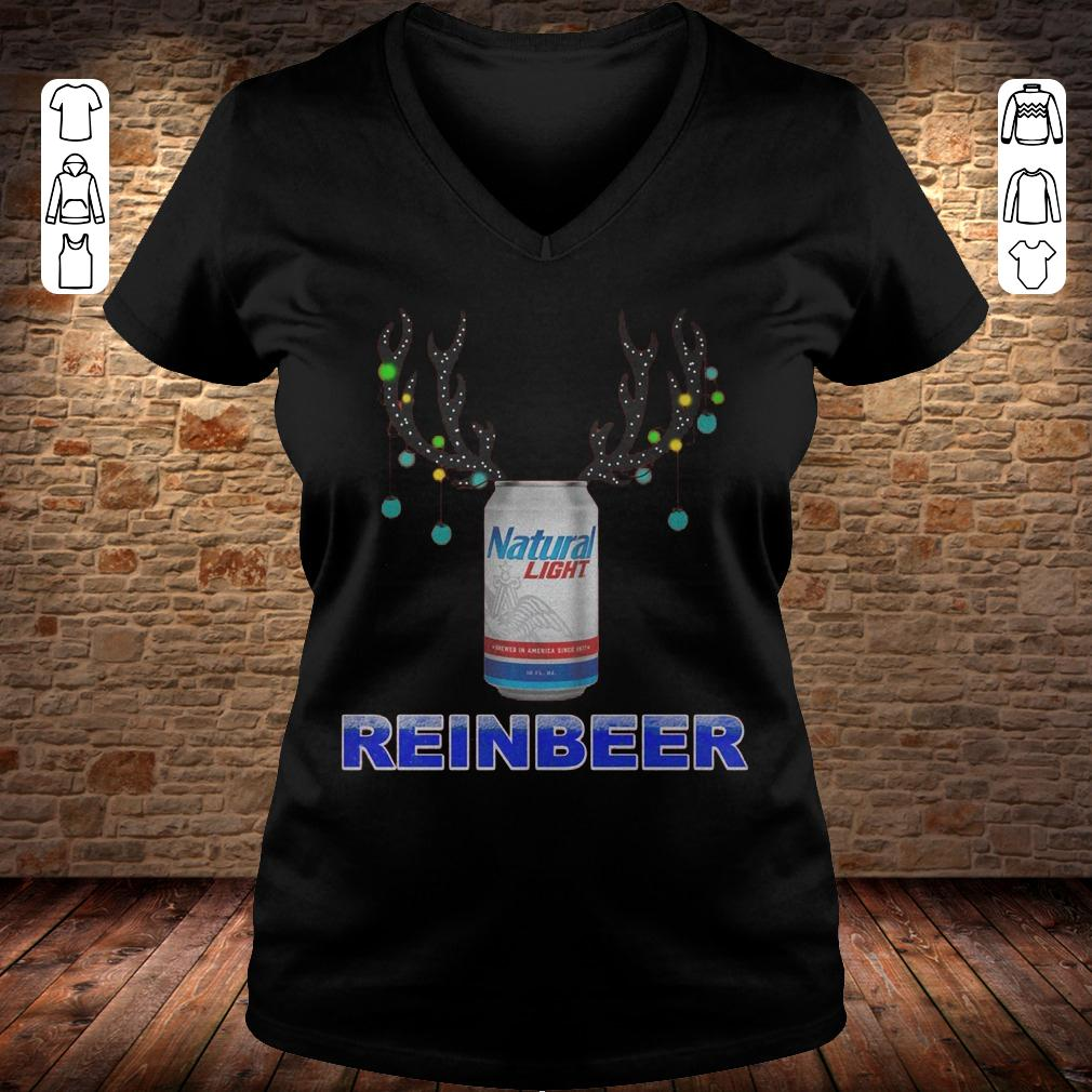 Natural Light Reinbeer shirt Ladies V-Neck