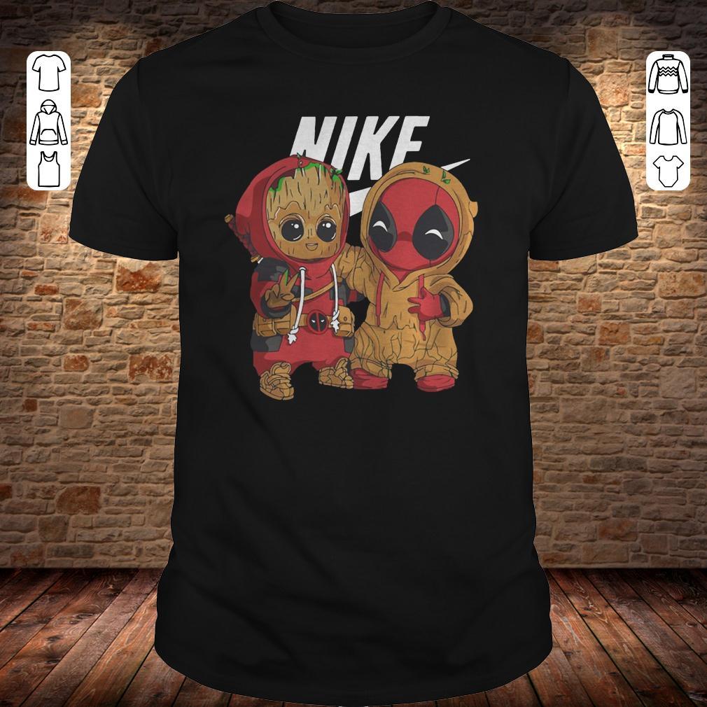 Nike Baby Groot And Deadpool shirt Classic Guys / Unisex Tee