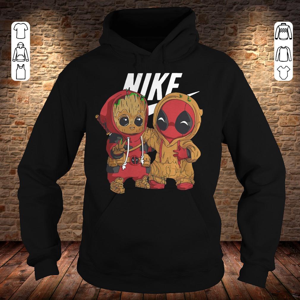 Nike Baby Groot And Deadpool shirt Hoodie