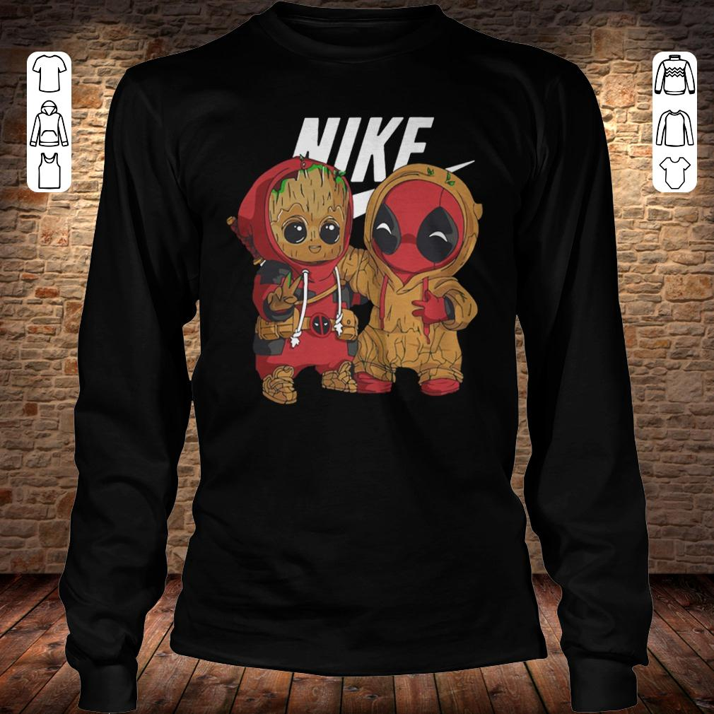 Nike Baby Groot And Deadpool shirt Longsleeve Tee Unisex