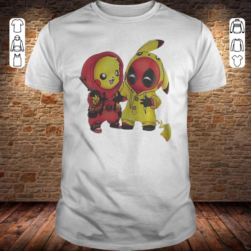 Pikachu and Deadpool shirt