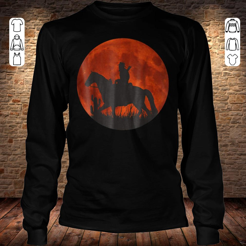 Red Moon Cowboy Red Dead Redemption shirt Longsleeve Tee Unisex