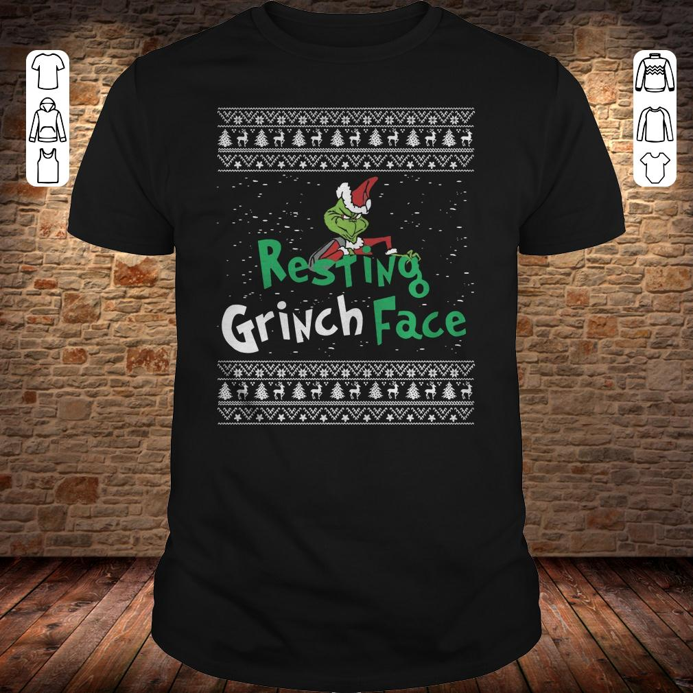 Resting Grinch face shirt Classic Guys / Unisex Tee