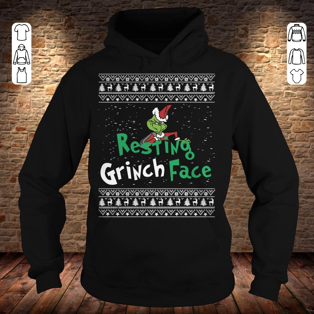 Resting Grinch face shirt Hoodie