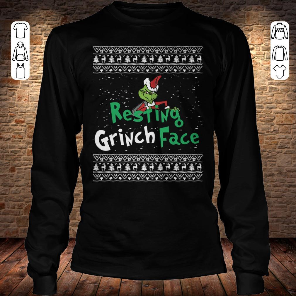Resting Grinch face shirt Longsleeve Tee Unisex