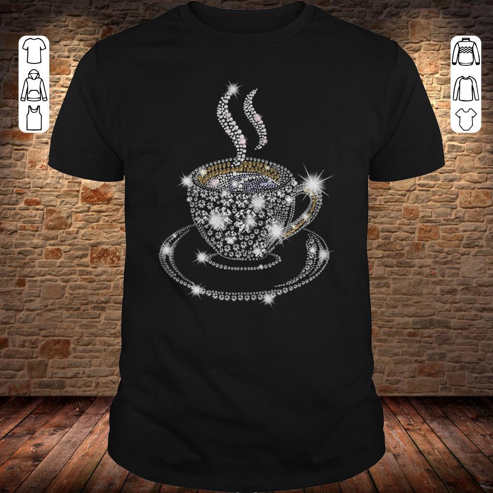 Rhinestone Coffee Cup shirt Classic Guys / Unisex Tee