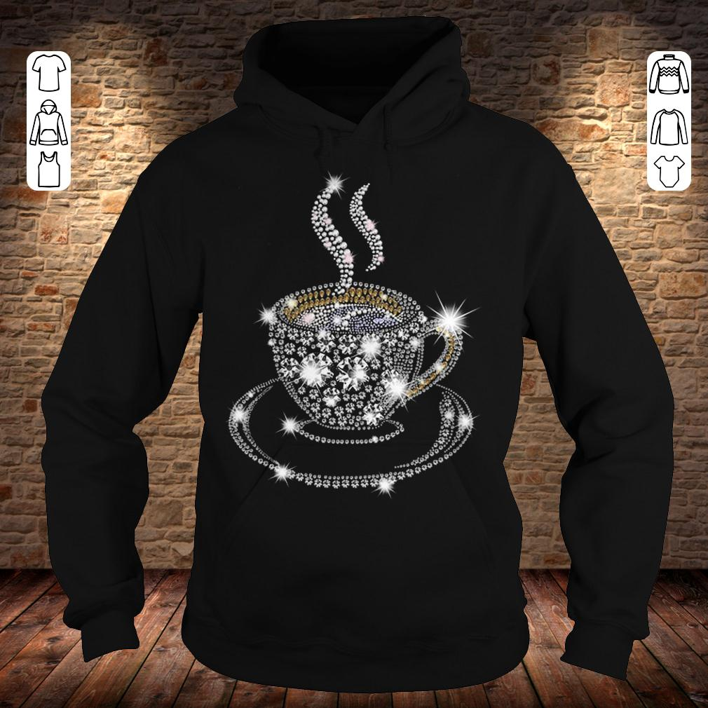Rhinestone Coffee Cup shirt Hoodie