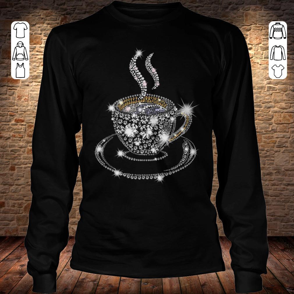 Rhinestone Coffee Cup shirt Longsleeve Tee Unisex