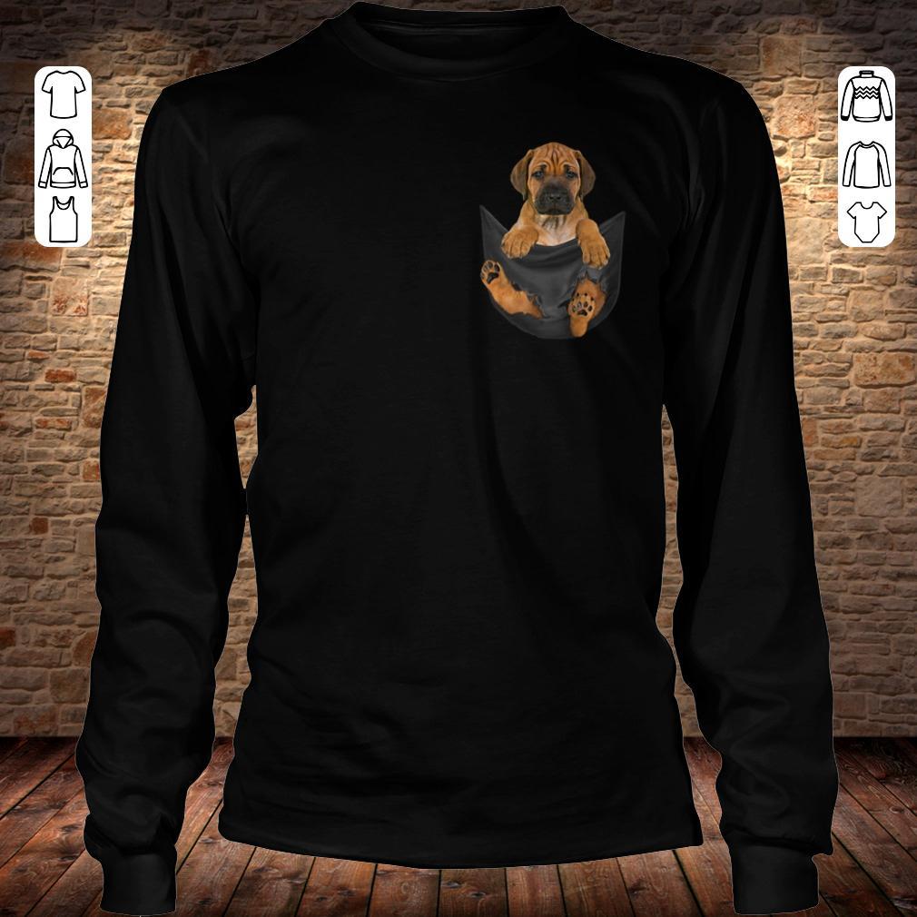Rhodesian Ridgeback in Tiny Pocket shirt Longsleeve Tee Unisex