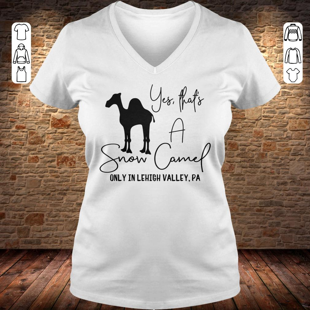 Snow Camel only in lehigh valley shirt Ladies V-Neck