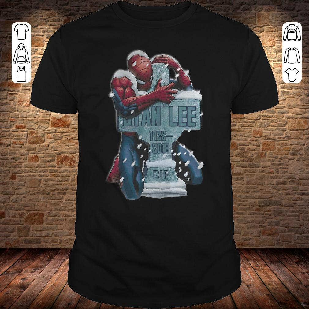 Spider Man hug grave Stan Lee shirt