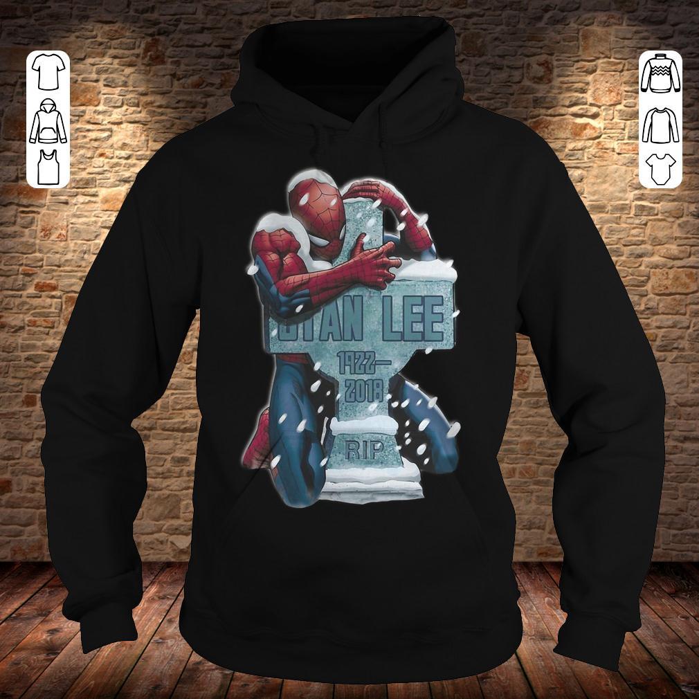 Spider Man hug grave Stan Lee shirt Hoodie
