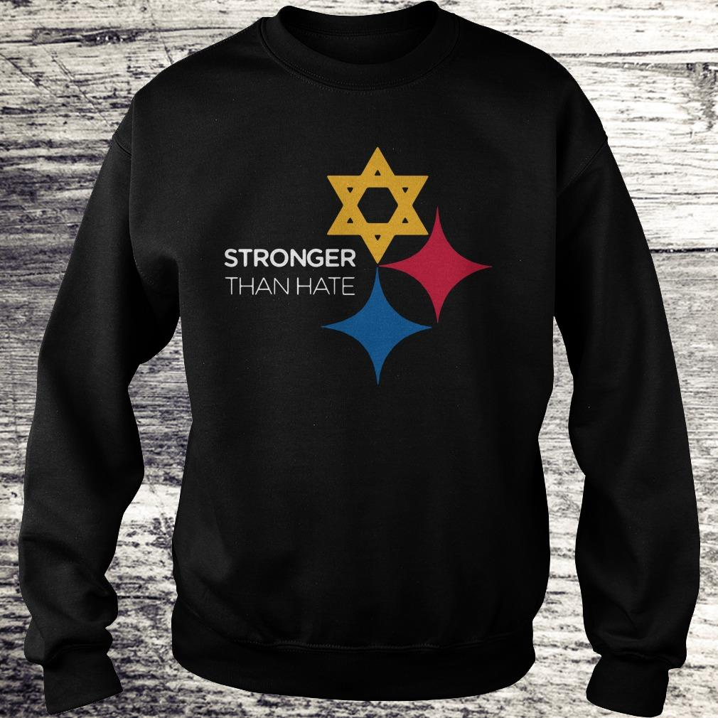 Steeler Pittsburgh Stronger Than Hate shirt