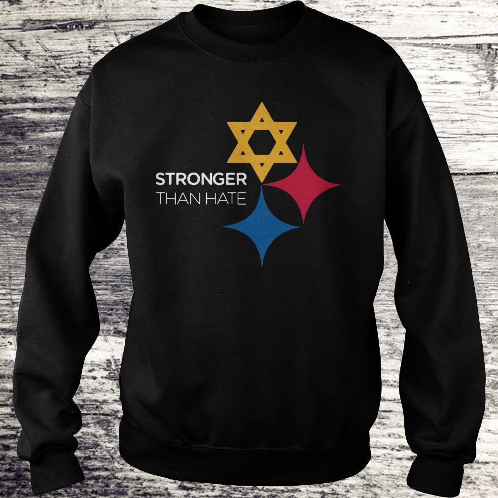 Steeler Pittsburgh Stronger Than Hate shirt