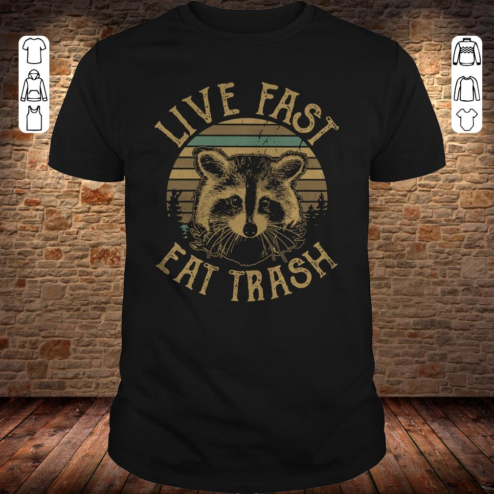 Sunset Camping Live fast eat trash shirt