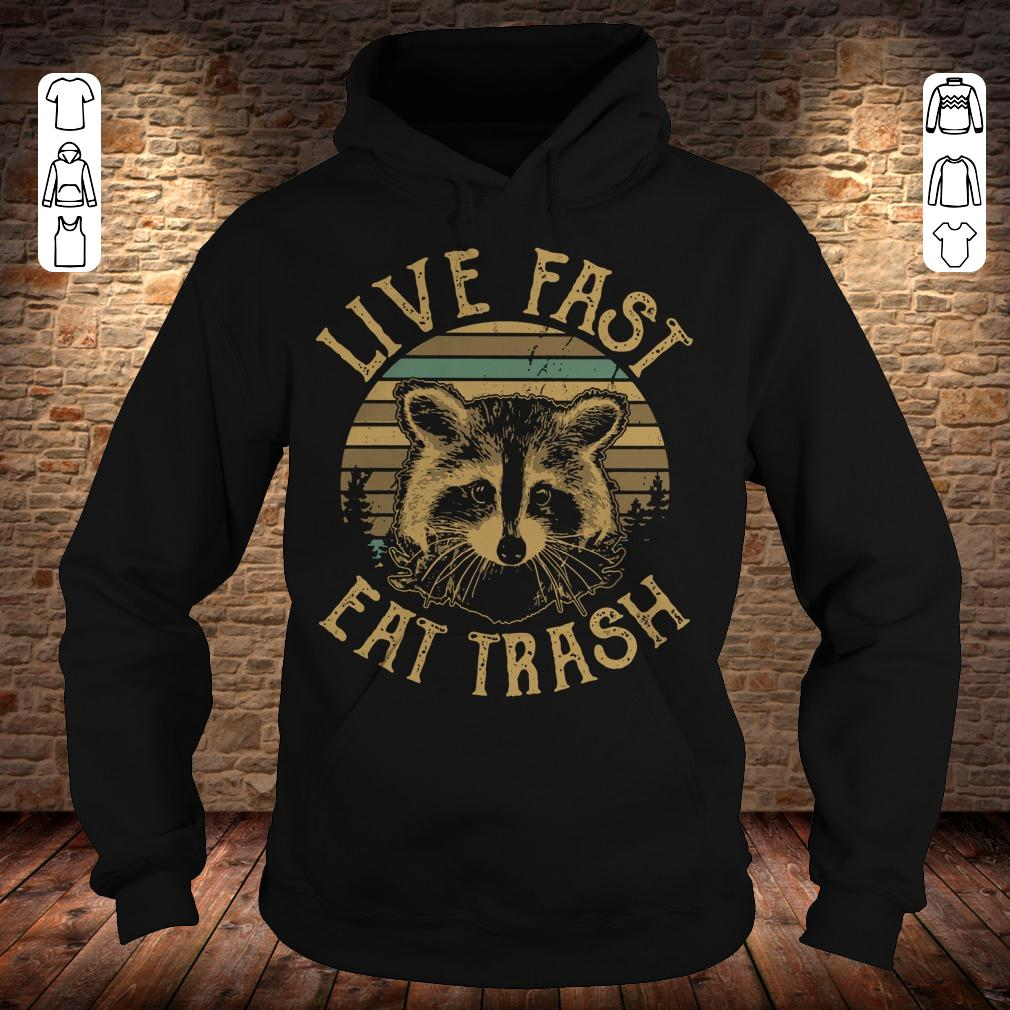 Sunset Camping Live fast eat trash shirt Hoodie