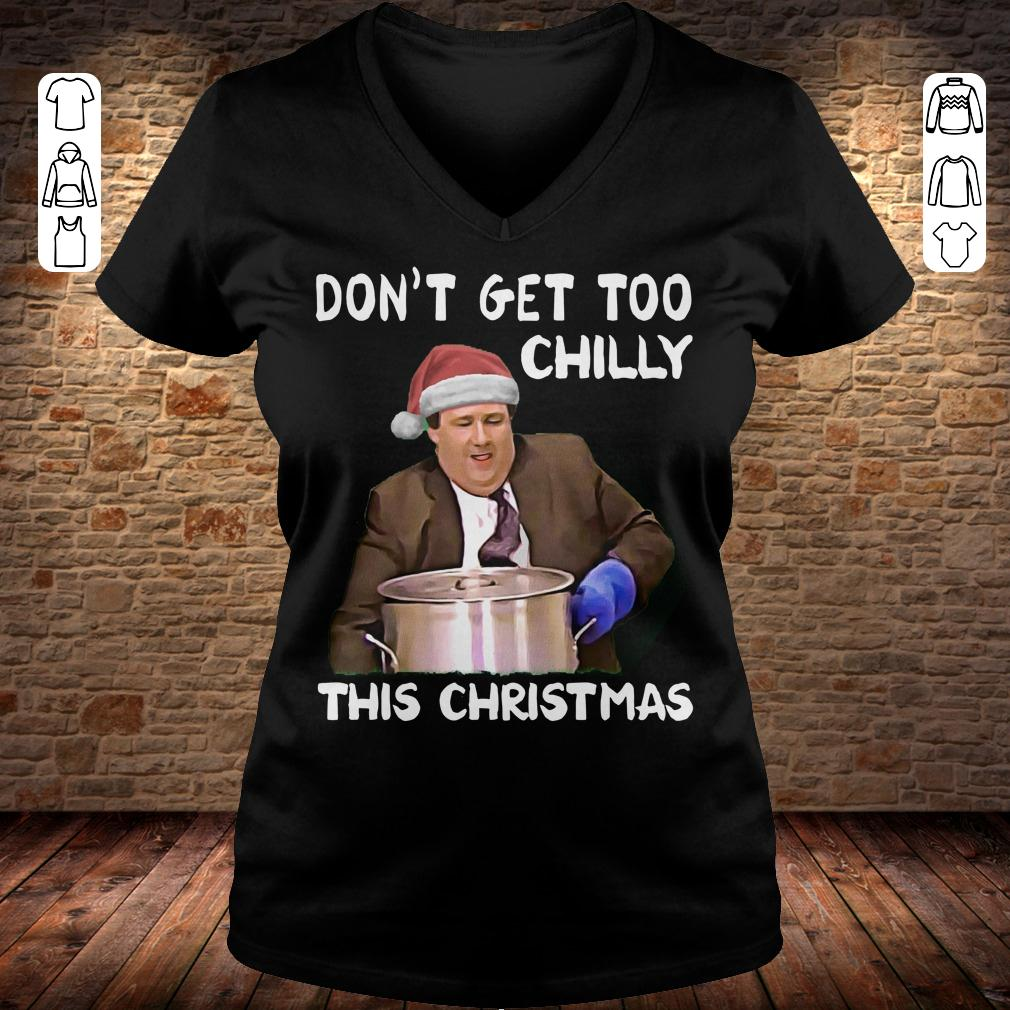 The Office Don't get too chilly this christmas shirt Ladies V-Neck