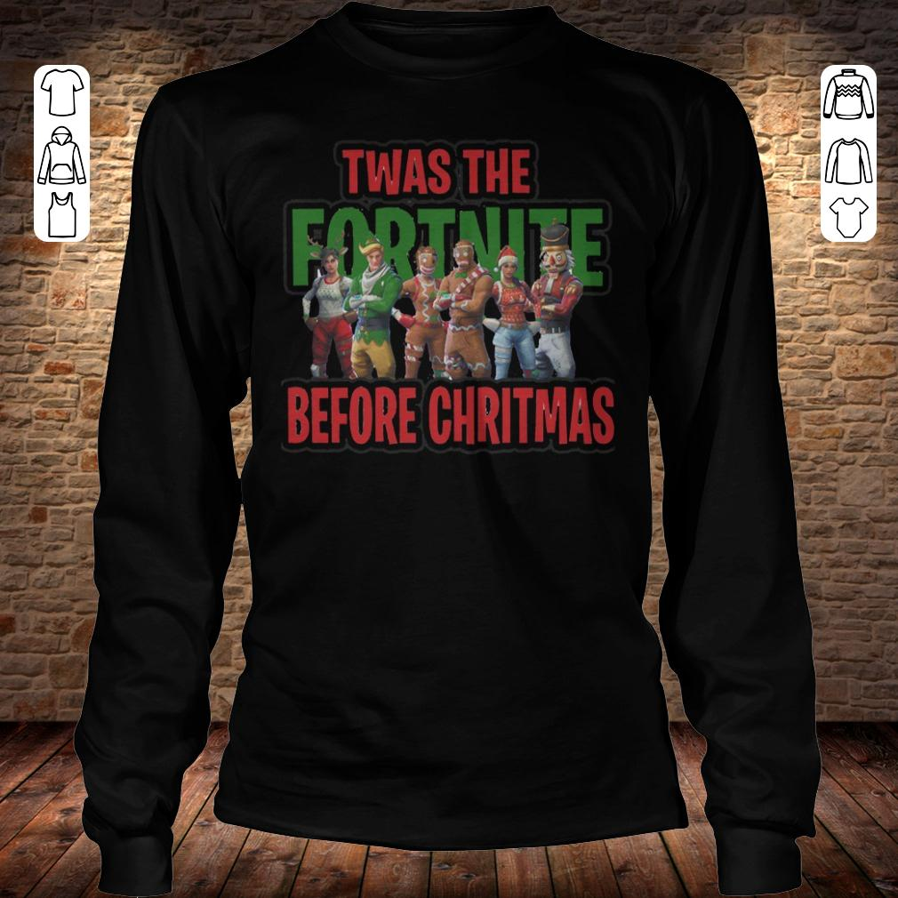 Twas the fortnite before christmas shirt Longsleeve Tee Unisex