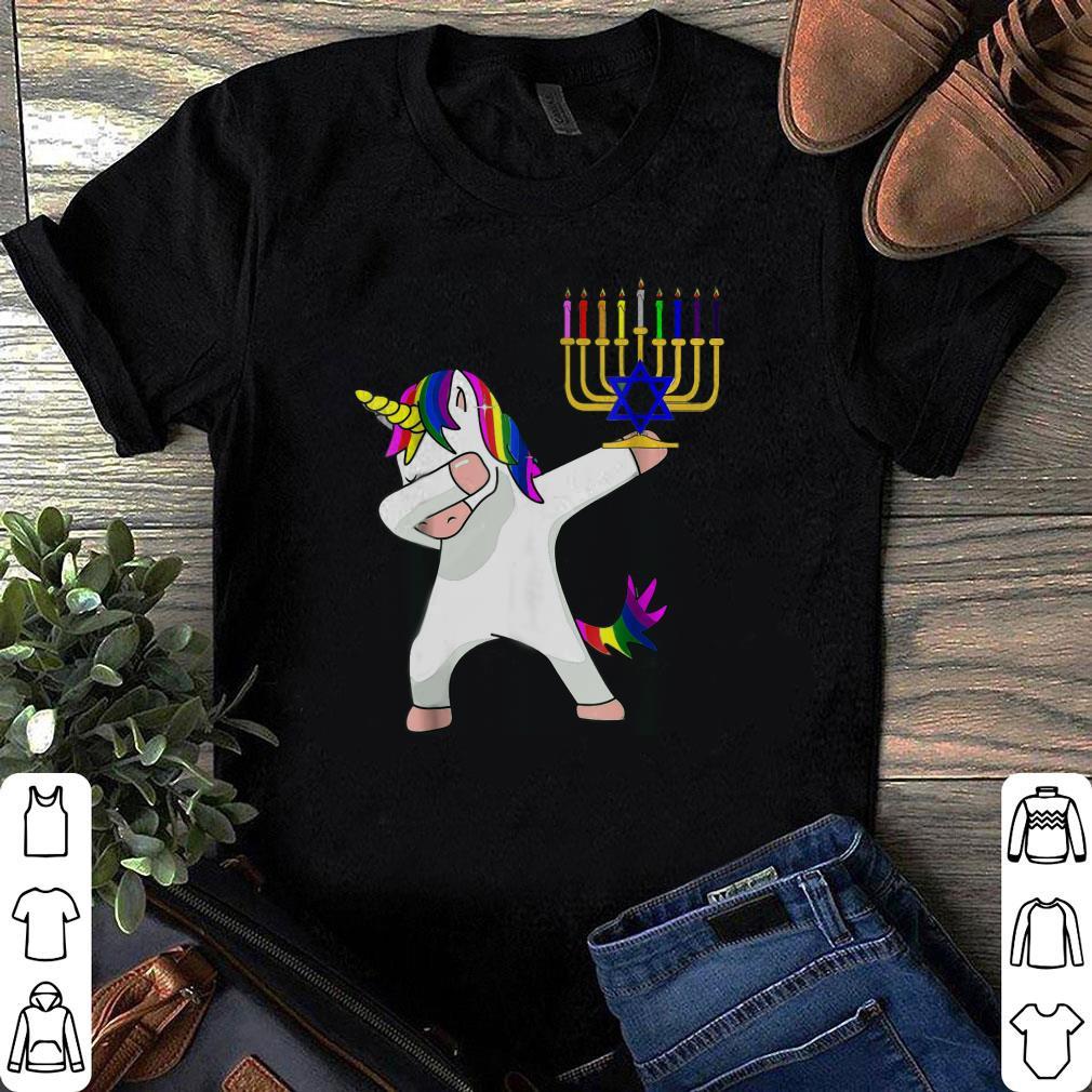 Unicorn Dabbing Hanukkah shirt
