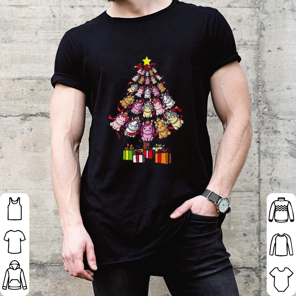 Adorable Unicorns Christmas Tree shirt