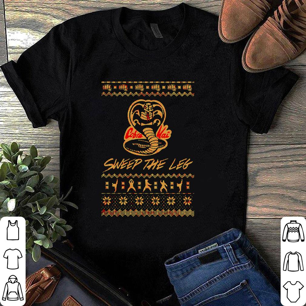 Christmas the Leg Karate Dojo Cobra Kai sweep the leg shirt