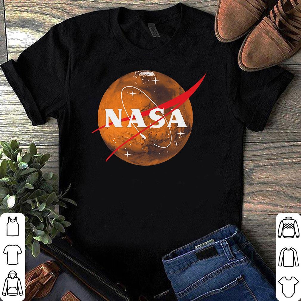 Planet Mars Nasa Space Logo shirt 1