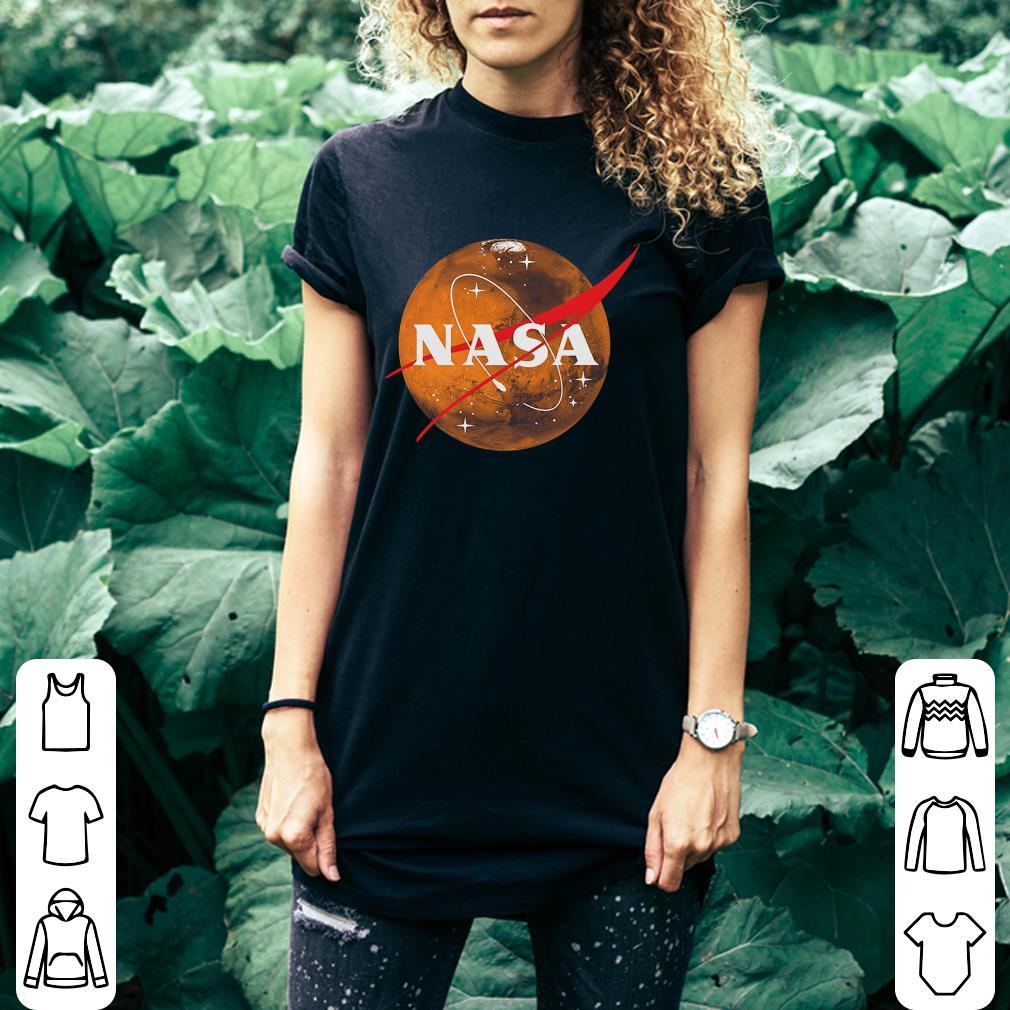 Planet Mars Nasa Space Logo shirt 3