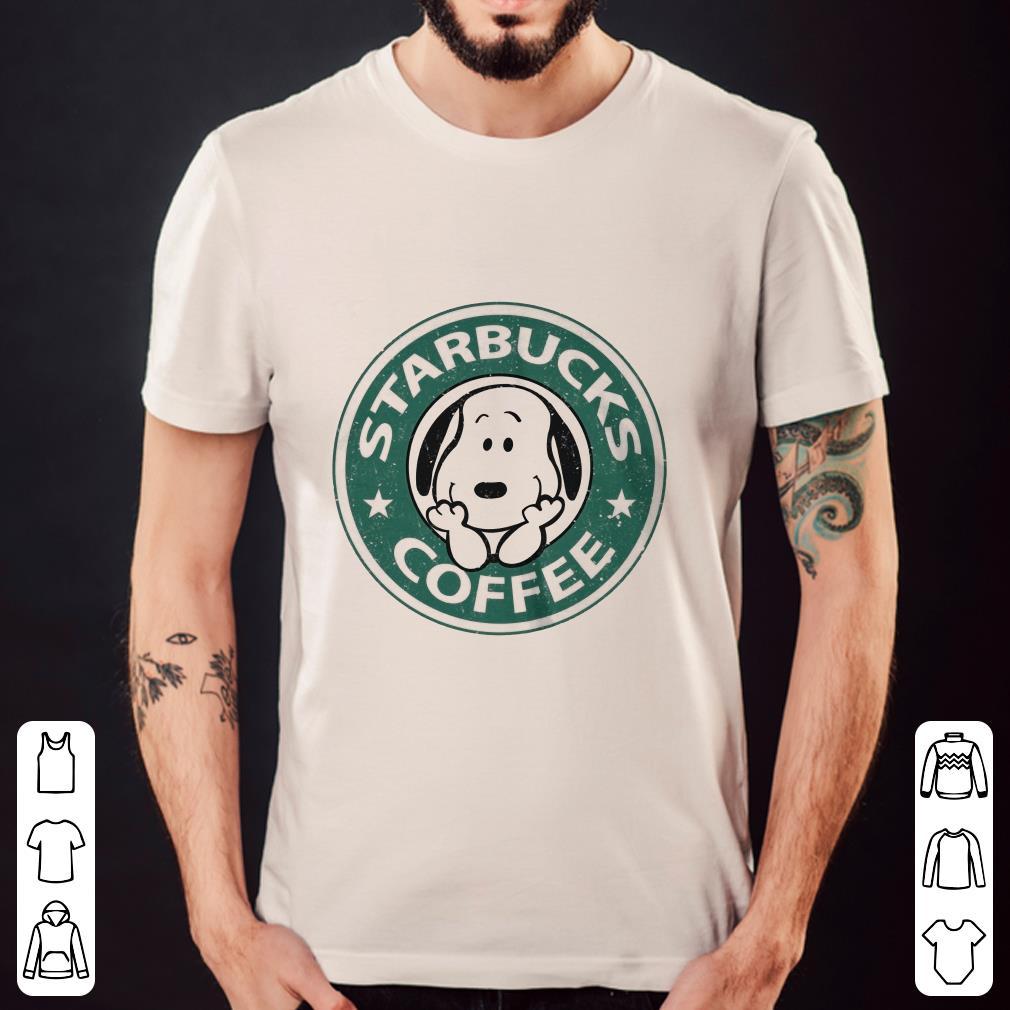 Snoopy Starbucks Coffee shirt
