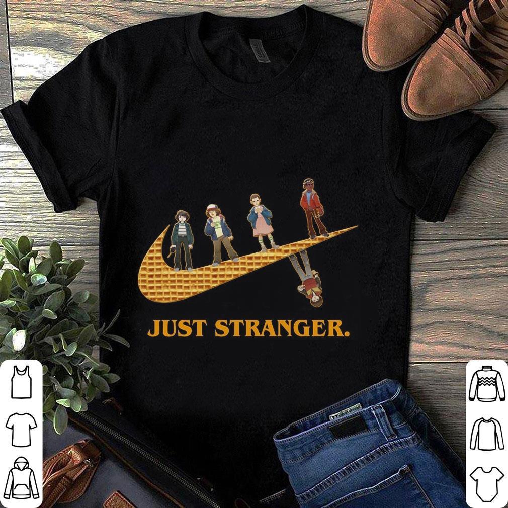 Stranger Things Nike Logo Mashup Just Stranger shirt