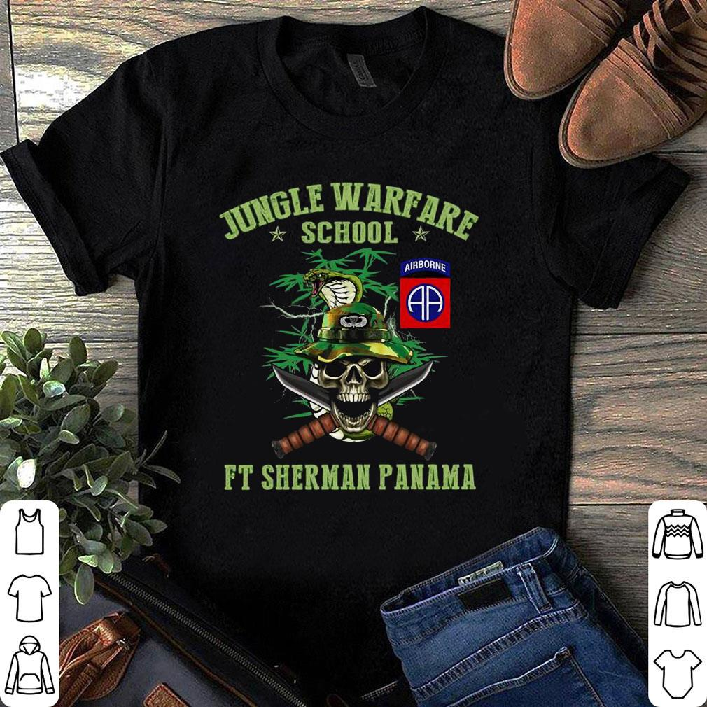 Airborne jungle warfare school ft sherman panama shirt