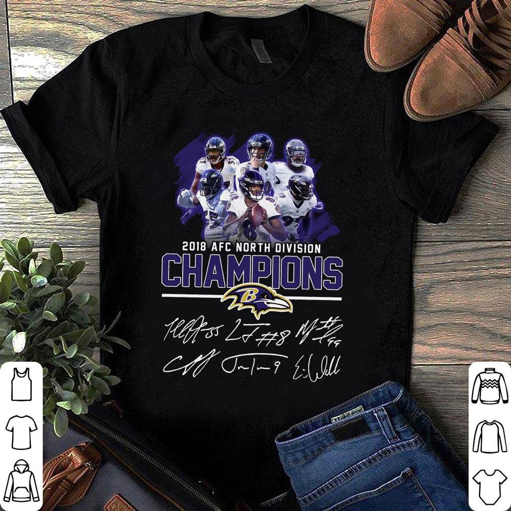Baltimore Ravens 2018 AFC north division champions signature shirt