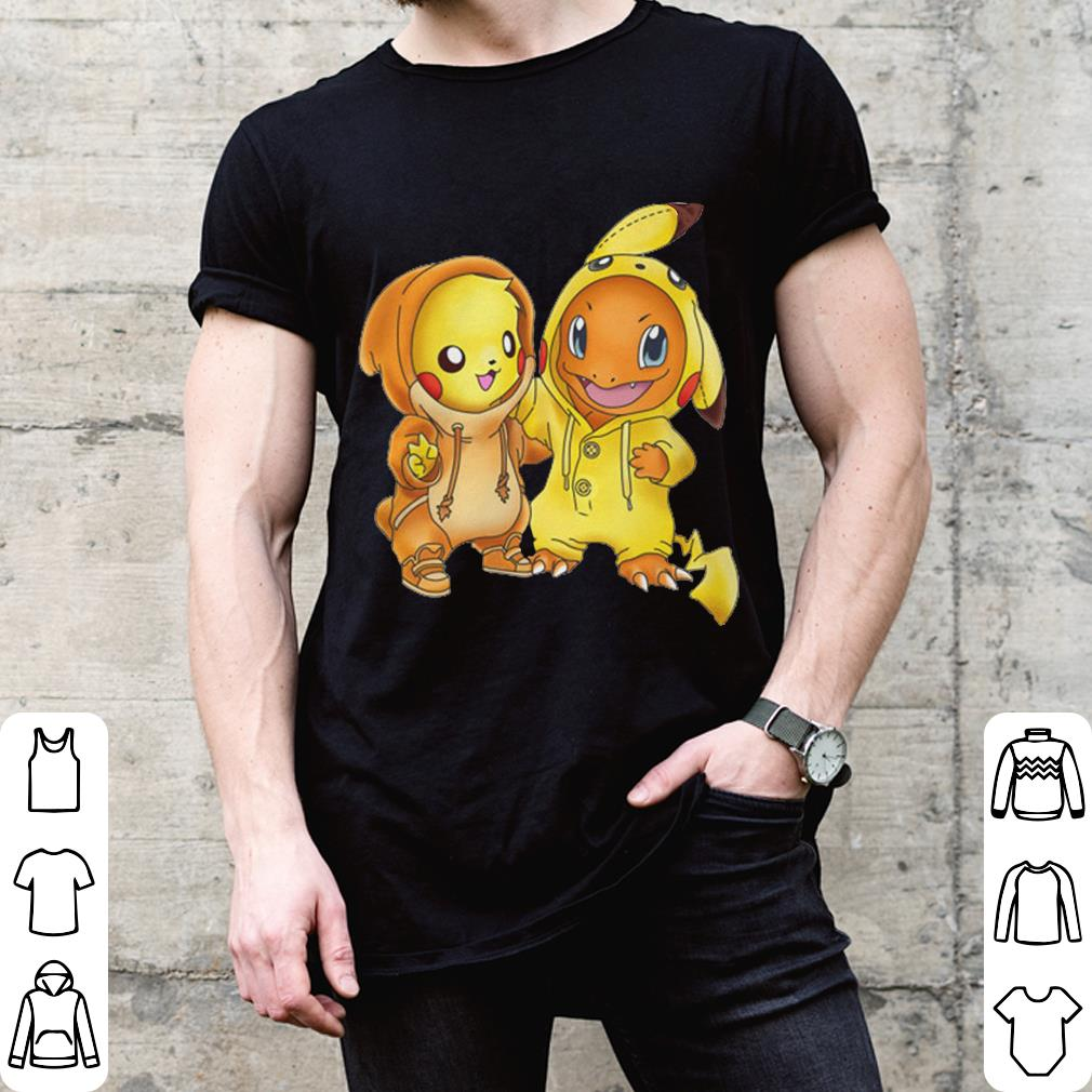 Hitokage and pikachu shirt