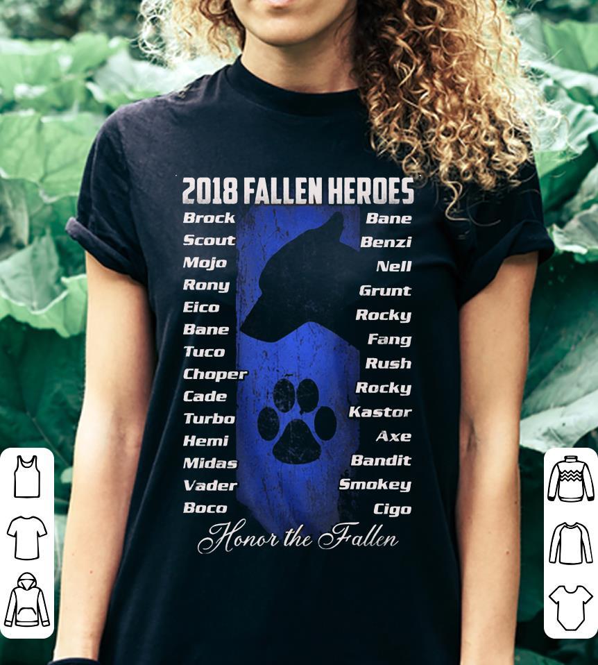 Honor the fallen 2018 Fallen Heroes shirt