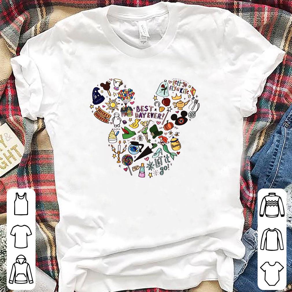 Mickey Mouse face symbol cartoons shirt
