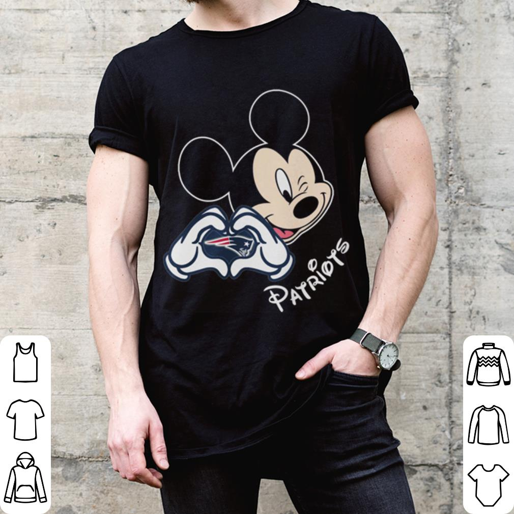 New England Patriots football with Mickey mouse patriots love shirt