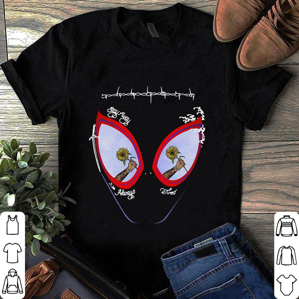 Post Malone face painting stay away always tired shirt