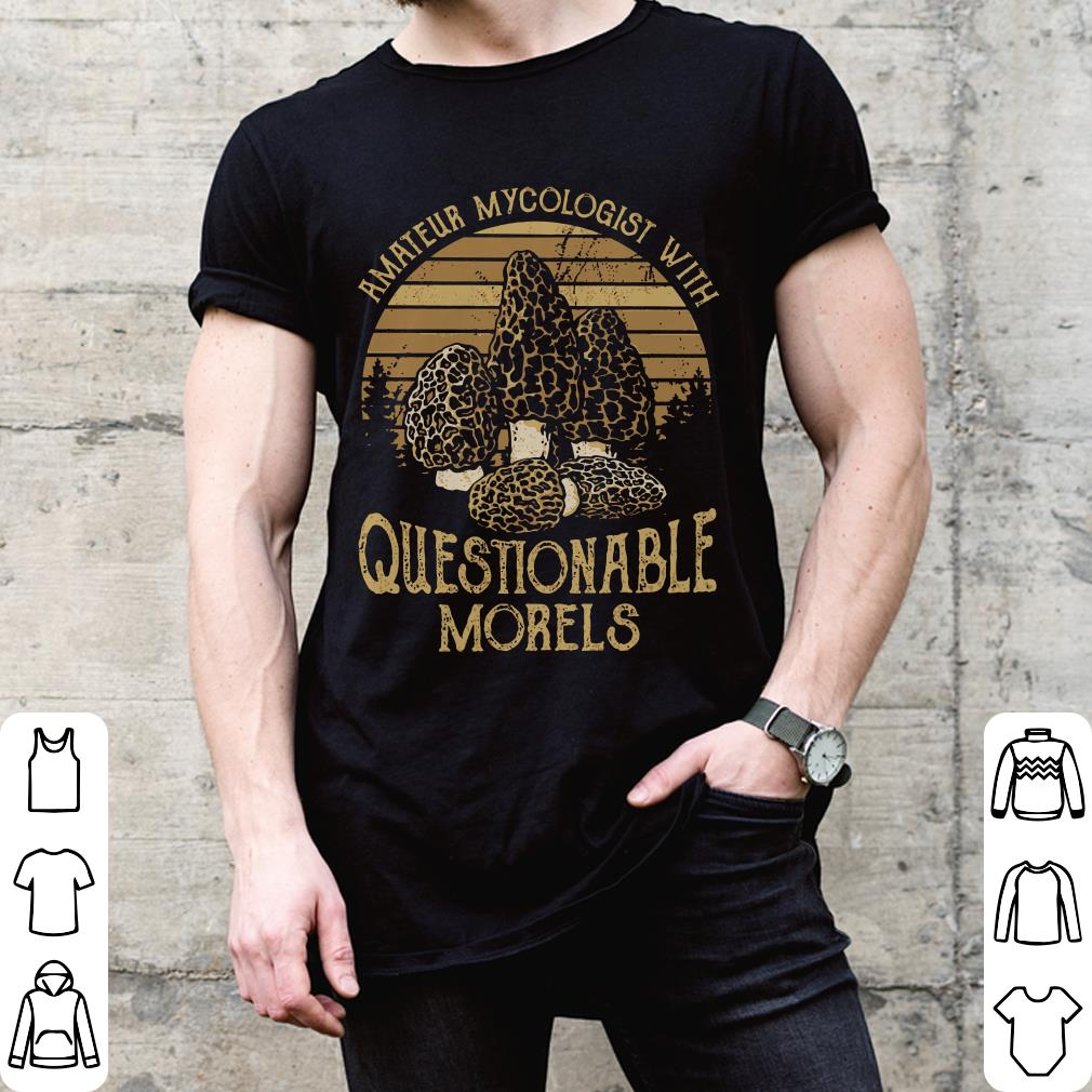 Sunset retro amateur my cologist with questionable morels shirt