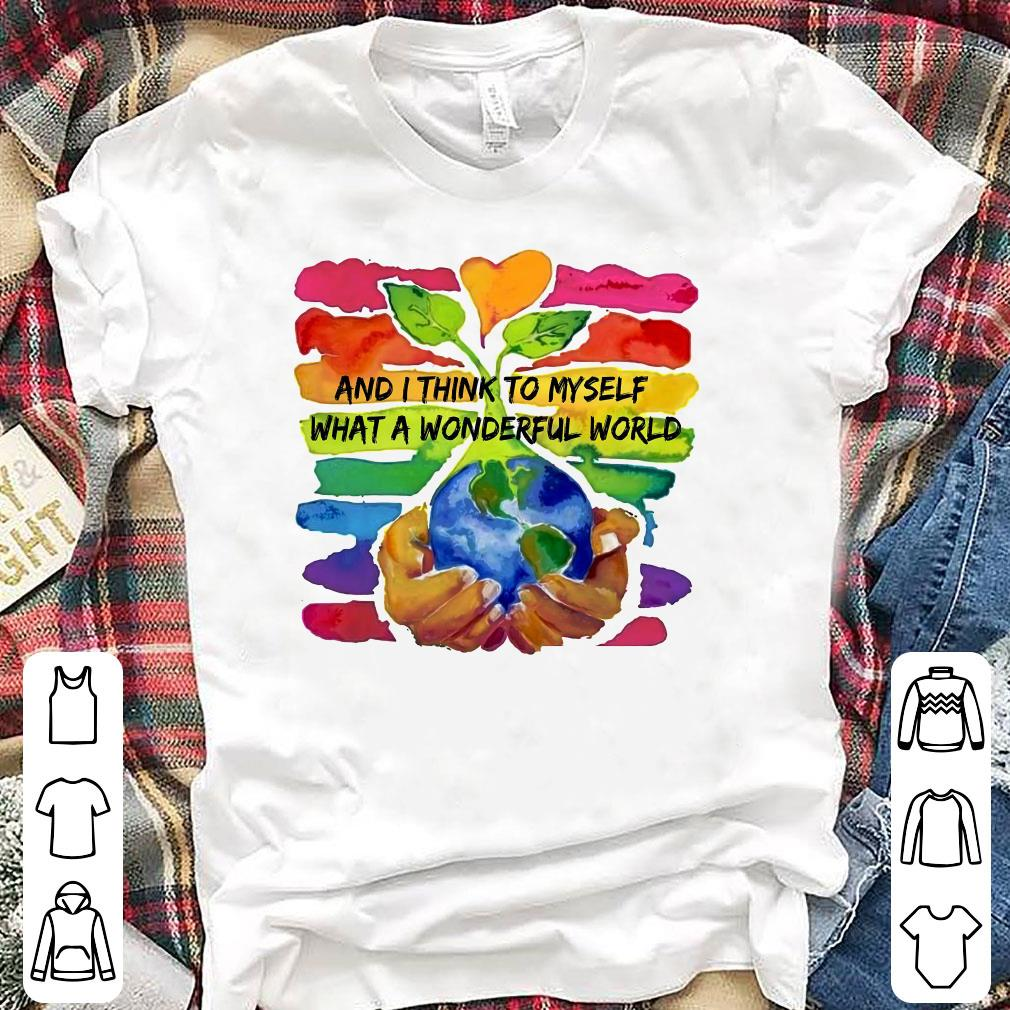 what a wonderful world water color shirt