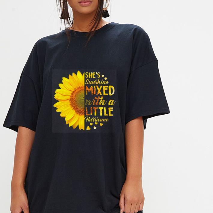 Sunflower she's sunshine mixed with a little hurricane shirt 3