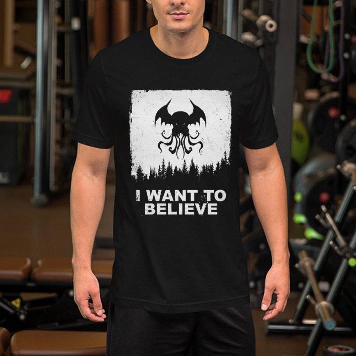 Bat Octopus I Want To Believe shirt