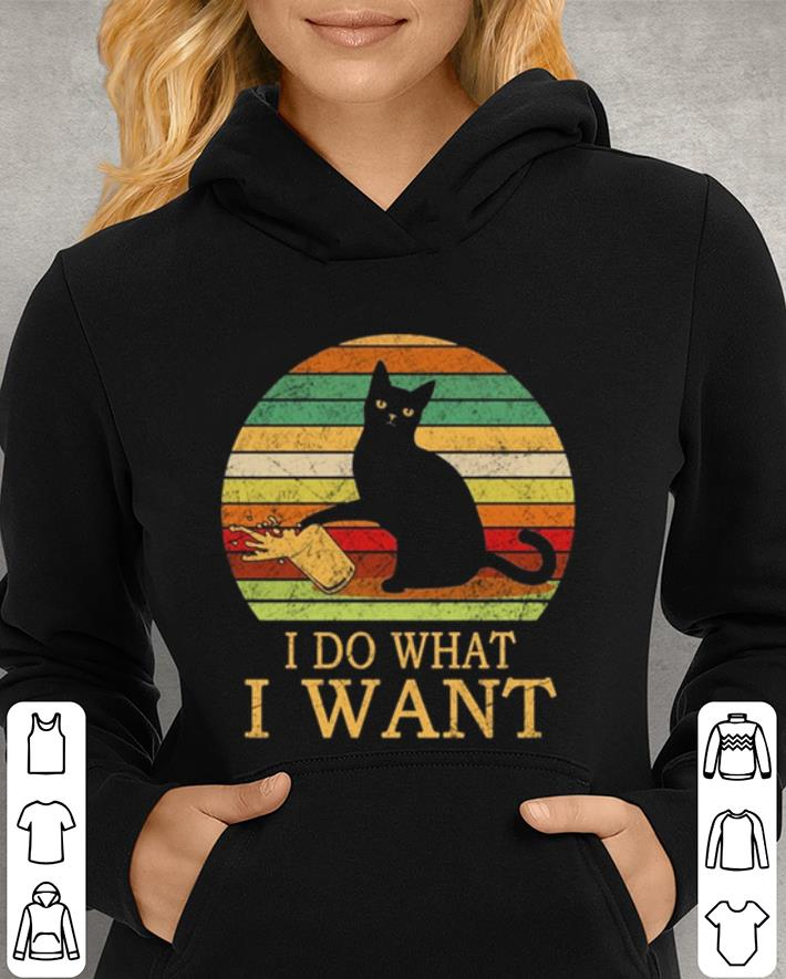 Black Cat i do what i want vintage shirt 3