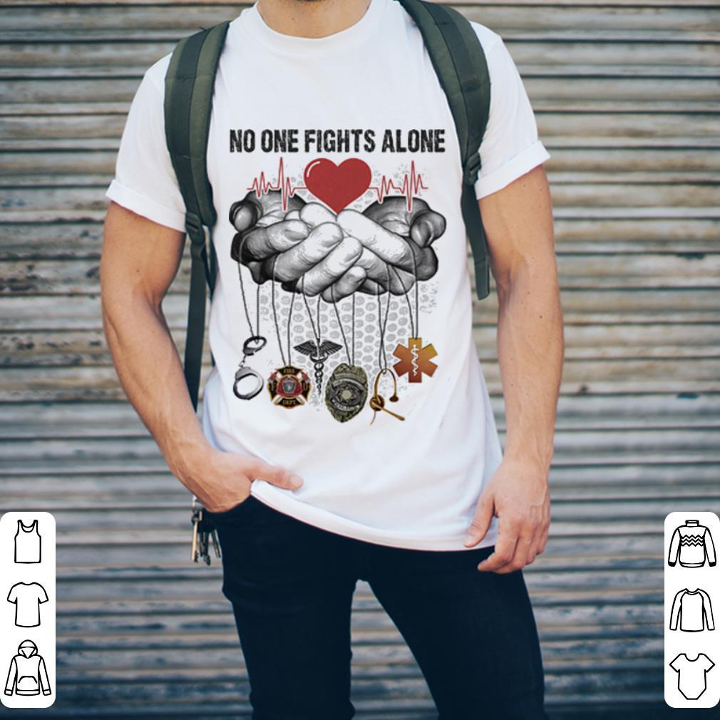 CNA No One Fights Alone shirt