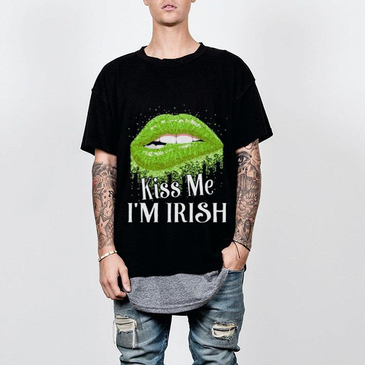 Lips Kiss Me I'm Irish Saint Patrick Day shirt