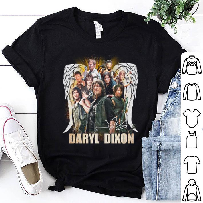 Wings Daryl Dixon signature The Walking Dead shirt