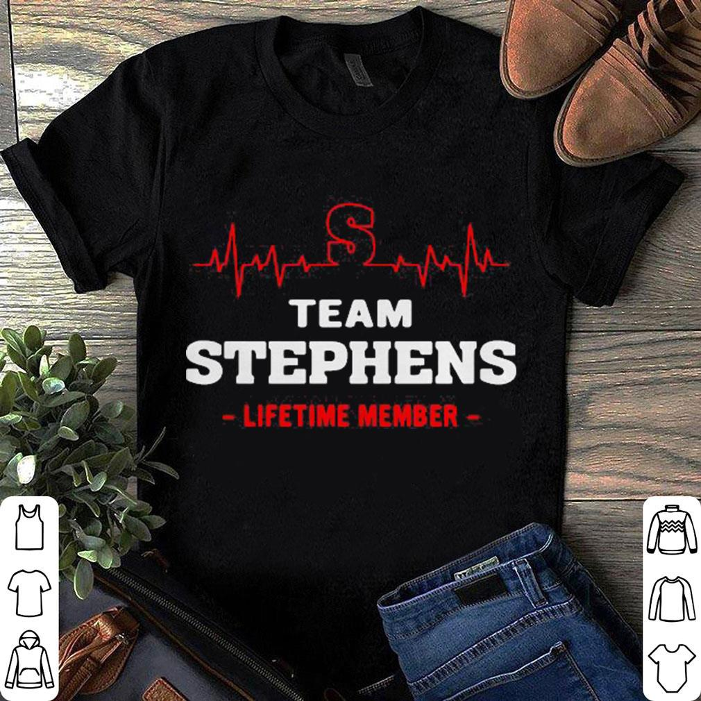 Heartbeat S team Stephens lifetime member shirt