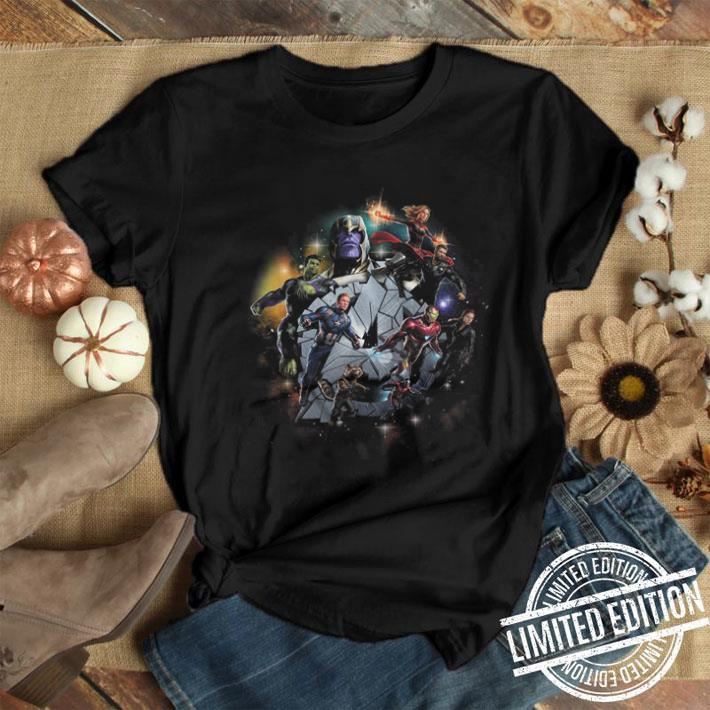 Marvel Avengers Endgame Exploding A Iron Man Captain America Graphic shirt