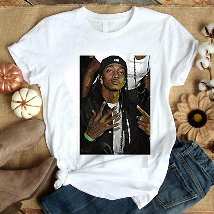 Rip King rapper Nipsey Hussle TMC Logo Marathon shirt